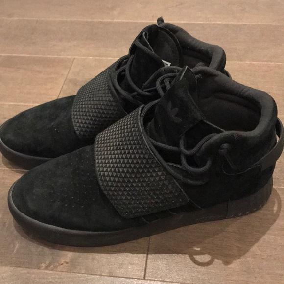 buy popular db543 b368f Men's Adidas Tubular Invader Strap Black 8.5